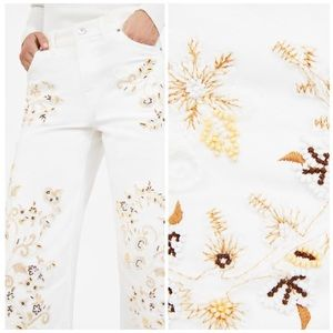 b784c78b Zara Jeans | Nwt Embroidered Western Culotte Pants 6 | Poshmark